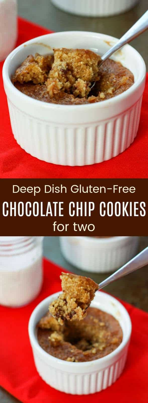 Deep Dish Gluten-Free Chocolate Chip Cookies for Two Recipe from Cupcakes and Kale Chips