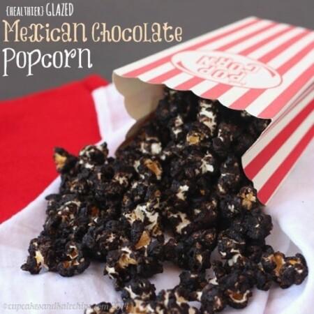 {healthier} Glazed Mexican Chocolate Popcorn