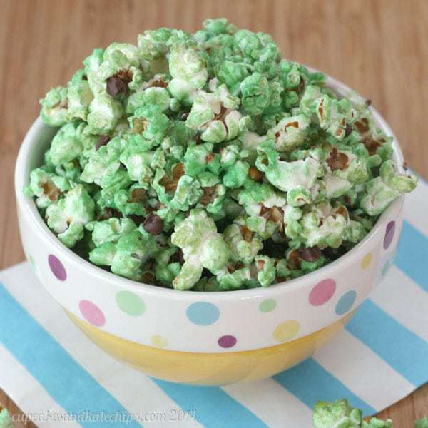 Mint Chocolate Chip Glazed Popcorn 5