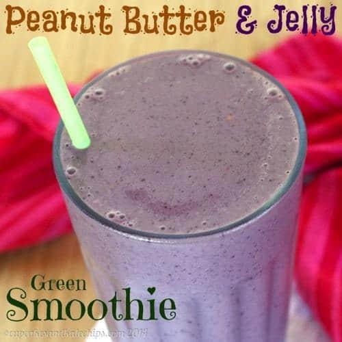 Peanut Butter and Jelly Green Smoothie   cupcakesandkalechips.com   #greensmoothie #glutenfree #greekyogurt