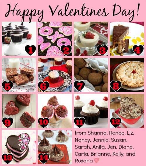 Happy Valentine's Day - 14 Valentine Desserts for February 14th from fourteen of your favorite bloggers | cupcakesandkalechips.com