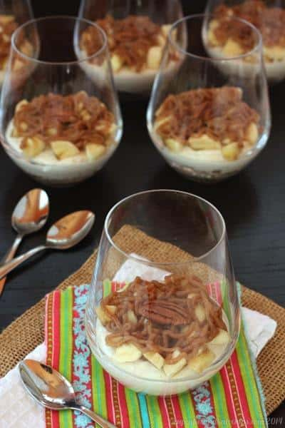 """Skinny Tuesday"" Bananas Foster Cheesecake Parfaits 