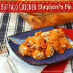 Buffalo Chicken Shepherd's Pie | cupcakesandkalechips.com | Buffalo Chicken | Sweet Potatoes | Shepherd's Pie