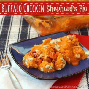 Buffalo Chicken Shepherd's Pie | cupcakesandkalechips.com | Buffalo Chicken | Sweet Potatoes | Shepherd's Pie