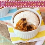 Gluten-Free Deep Dish Carrot Cakes for Two for #SundaySupper