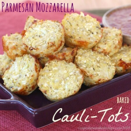 Parmesan Mozzarella Baked Cauli-Tots (aka Pizza-Tots)