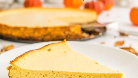 Pumpkin Greek Yogurt Cheesecake Tart 5 title