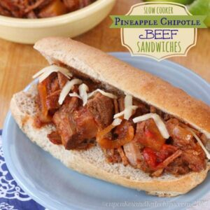Slow Cooker Pineapple Chipotle Beef Sandwiches