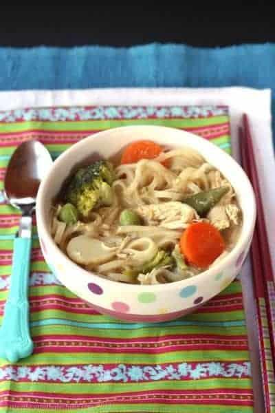 Semi-Homemade Thai Chicken Noodle Soup