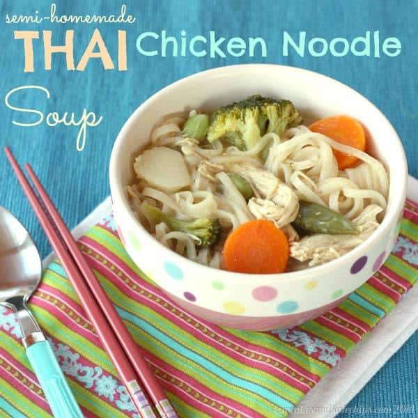 Semi-Homemade} Thai Chicken Noodle Soup | cupcakesandkalechips.com ...