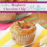{Healthier} Raspberry Chocolate Chip Muffins for @DriscollsBerry #MuffinMadness