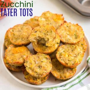 Zucchini Tater Tots square photo with title text
