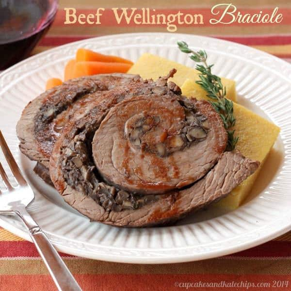 Beef Wellington Braciole | cupcakesandkalechips.com | #dinner #steak #braise