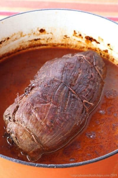 Beef Wellington Braciole | cupcakesandkalechips.com | #dinner #steak #braise