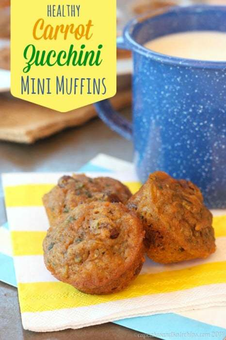 Carrot Zucchini Whole Wheat Mini Muffins 3 title