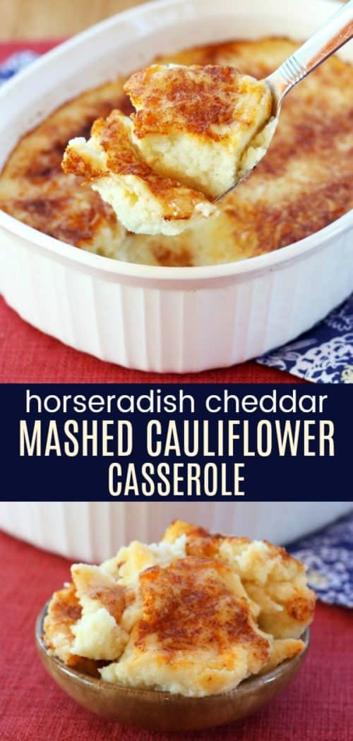 Cauliflower Gratin with Horseradish Cheddar Cheese Collage