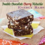 Five-Ingredient Double Chocolate Cherry Pistachio Energy Bars {copycat Lara Bars}