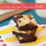 Flourless Peanut Butter Cookie Dough Cheesecake Brownies