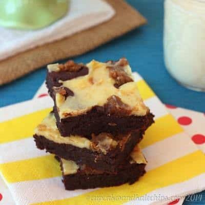 Flourless Peanut Butter Cookie Dough Cheesecake Brownies   cupcakesandkalechips.com   #glutenfree #dessert #chocolate