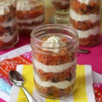 Carrot Cake Greek Yogurt Cheesecake Parfaits