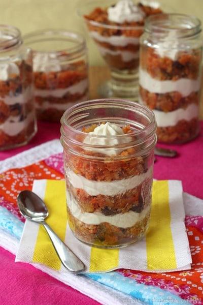 carrot cake parfaits in jars