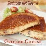 Kentucky Hot Brown Grilled Cheese Sandwich for #SundaySupper