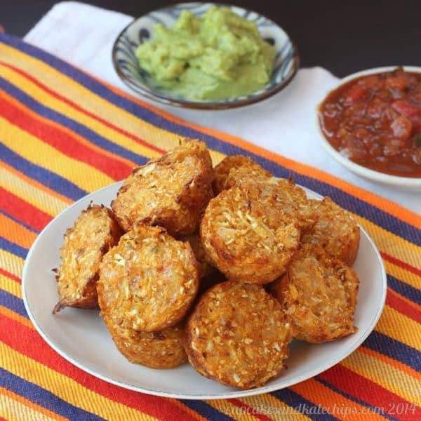 Mexican Pepper Jack Baked Cauliflower Tots 2
