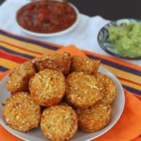 Mexican Pepper Jack Baked Cauli-Tots
