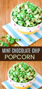Mint Chocolate Chip Popcorn Collage