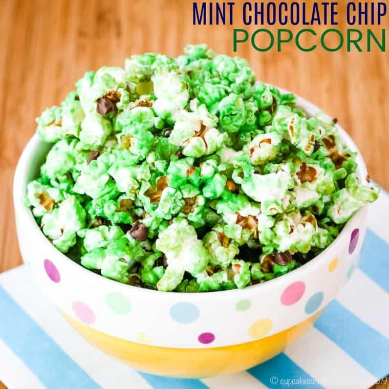Mint Chocolate Chip Popcorn