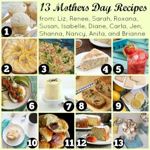 13 Mother's Day Recipes | cupcakesandkalechips.com and friends | #mothersday #dessert #drinks