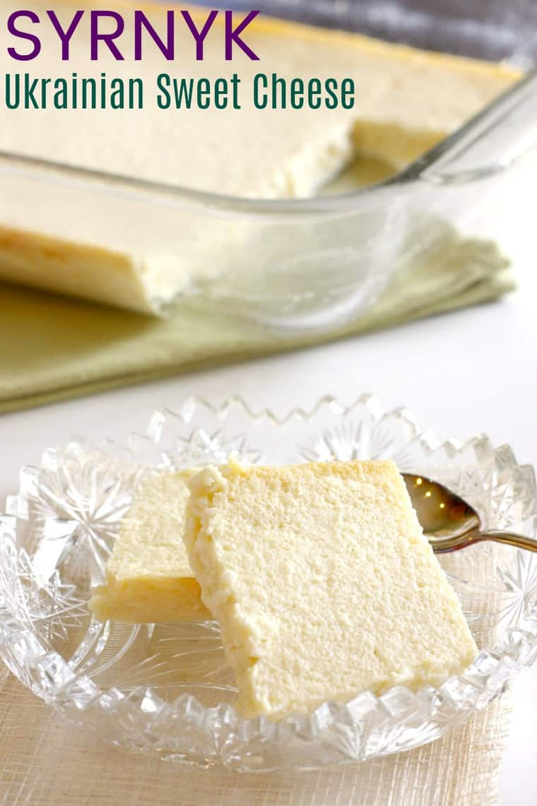 Syrnyk Sweet Ukrainian Easter Cheese Recipe image with title