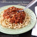 Vegan Vegetable Tomato Sauce with Chickpeas