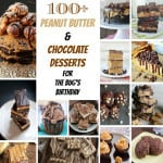 100+ Peanut Butter & Chocolate Dessert Recipes for The Bug's Birthday