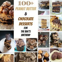 100+ Peanut Butter & Chocolate Desserts sq