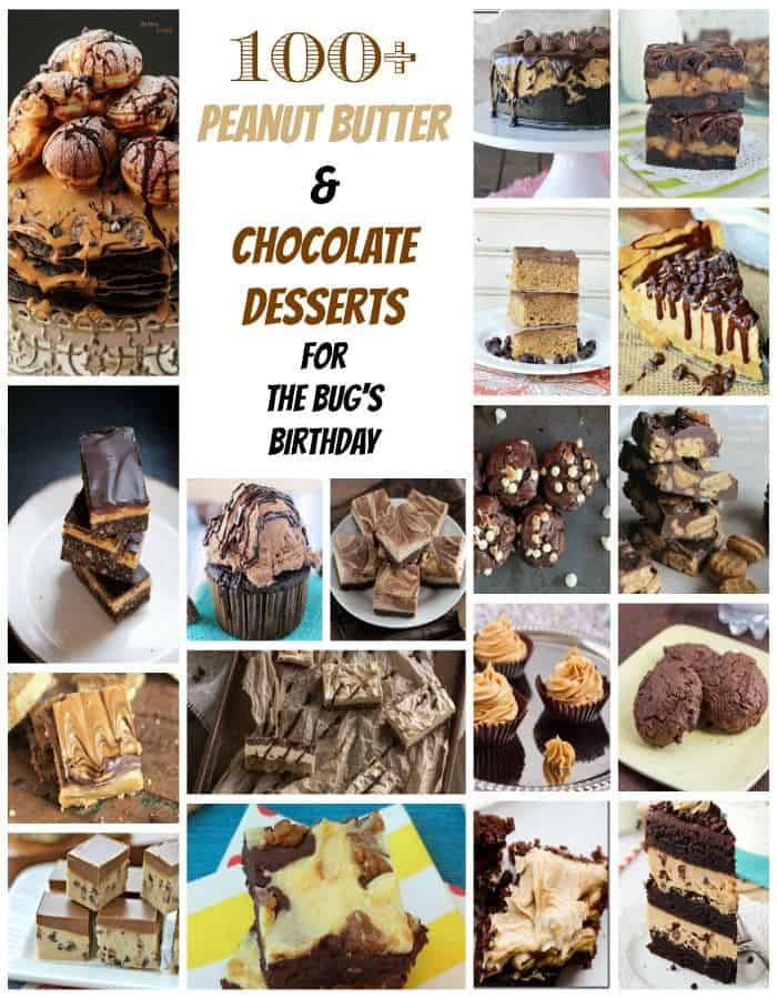 100+ Peanut Butter & Chocolate Dessert Recipes | cupcakesandkalechips.com | #desserts #brownies #cupcakes #cake #cookies #icecream