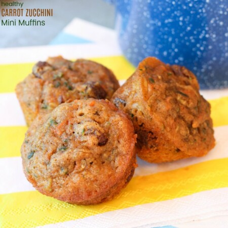 Healthy Carrot Zucchini Mini Muffins