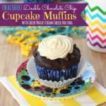 Chocolate Chip Cupcakes Muffins 3 title