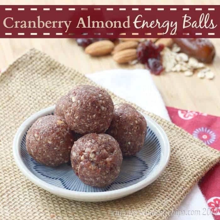 Cranberry Almond Energy Balls (and Baby Bites) with only four ingredients   cupcakesandkalechips.com   #glutenfree #vegan #snack