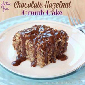 Gluten-Free Chocolate Hazelnut Crumb Cake for #BrunchWeek (#Giveaway)