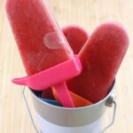 Mango Strawberry Popsicles Recipe Image with Title