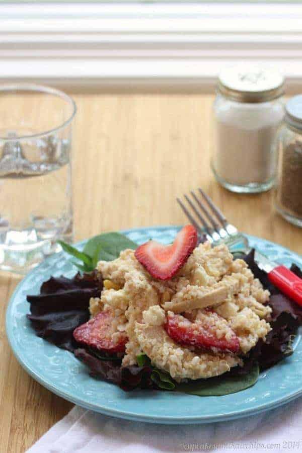 Strawberry Lime Quinoa Chicken Salad