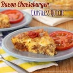 Bacon Cheeseburger Crustless Quiche for #SundaySupper