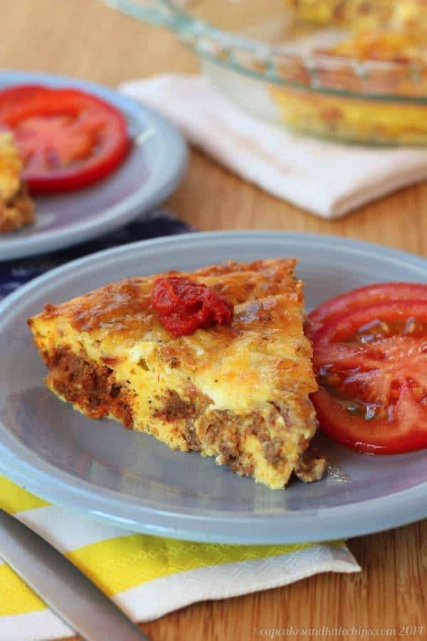 Bacon Cheeseburger Crustless Quiche - amazing for breakfast, brunch or brinner