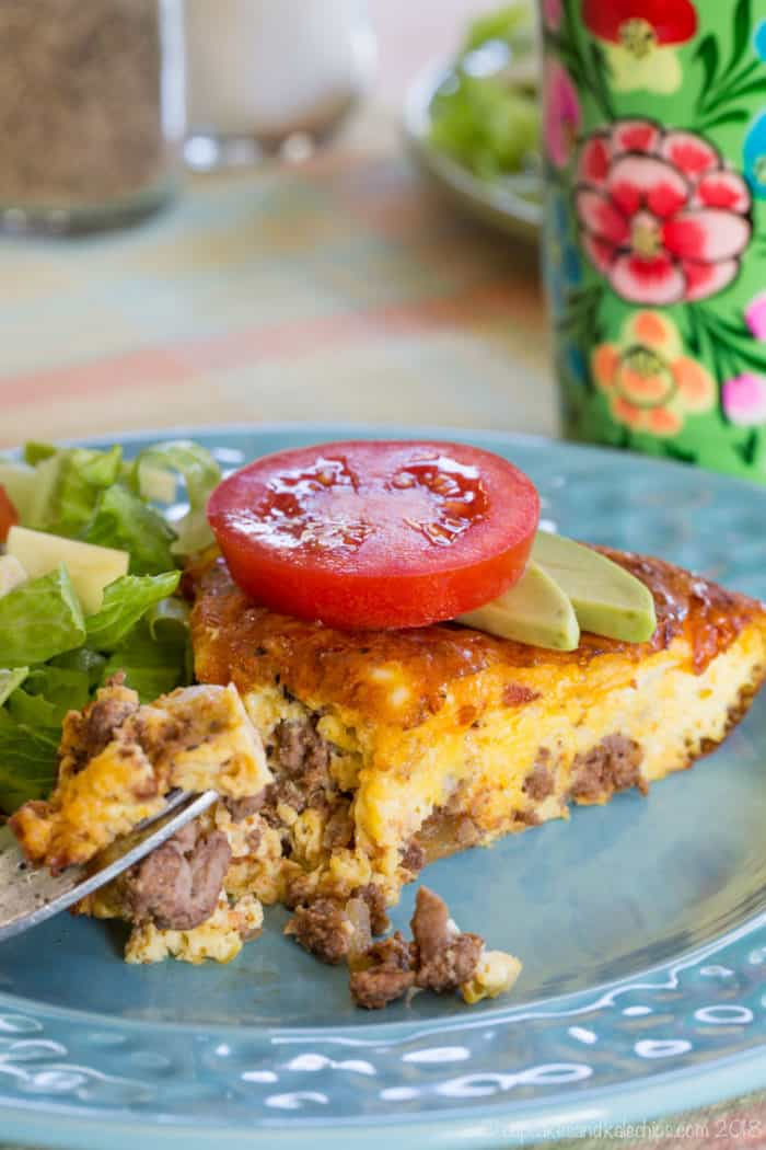 Crustless Bacon Cheeseburger Quiche Recipe