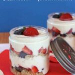 These healthy parfaits are filled with creamy Greek yogurt, nutty quinoa, bananas, and fresh berries