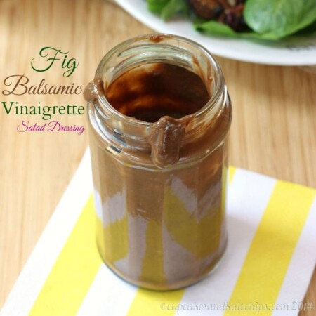 Fig Balsamic Vinaigrette Salad Dressing is sweet and tangy, with a flavor that will complement salads and sandwiches. It only takes minutes to blend up this easy gluten-free salad dressing recipe.