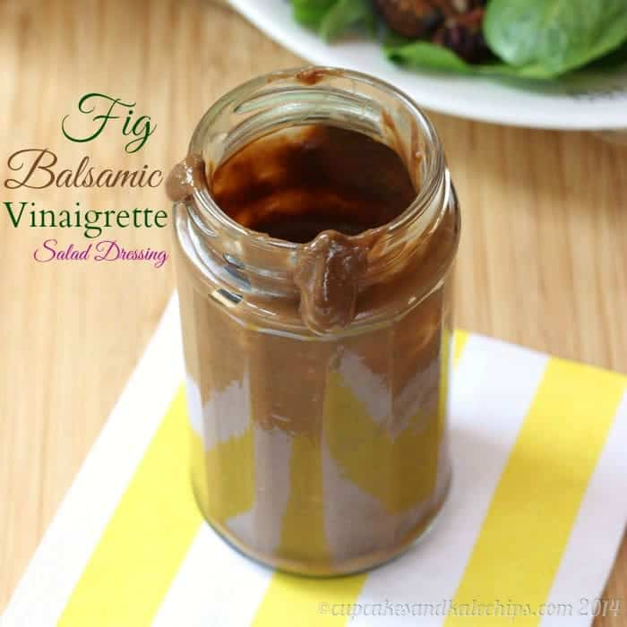 Fig Balsamic Vinaigrette Salad Dressing - 4 ingredients, 5 minutes to make this sweet, tangy dressing | cupcakesandkalechips.com | #glutenfree #vegan
