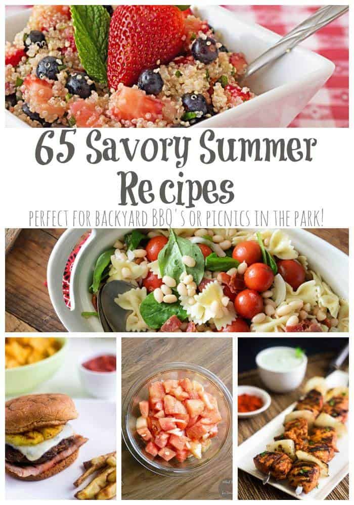 65 Savory Summer Recipes - the best of the web for picnics and barbecues | cupcakesandkalechips.com | #reciperoundup #grilling #burgers #salads