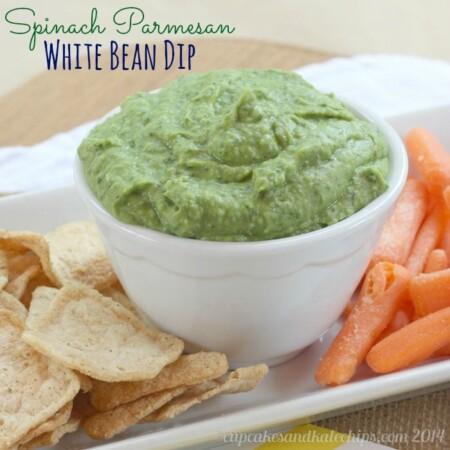Spinach Parmesan White Bean Dip